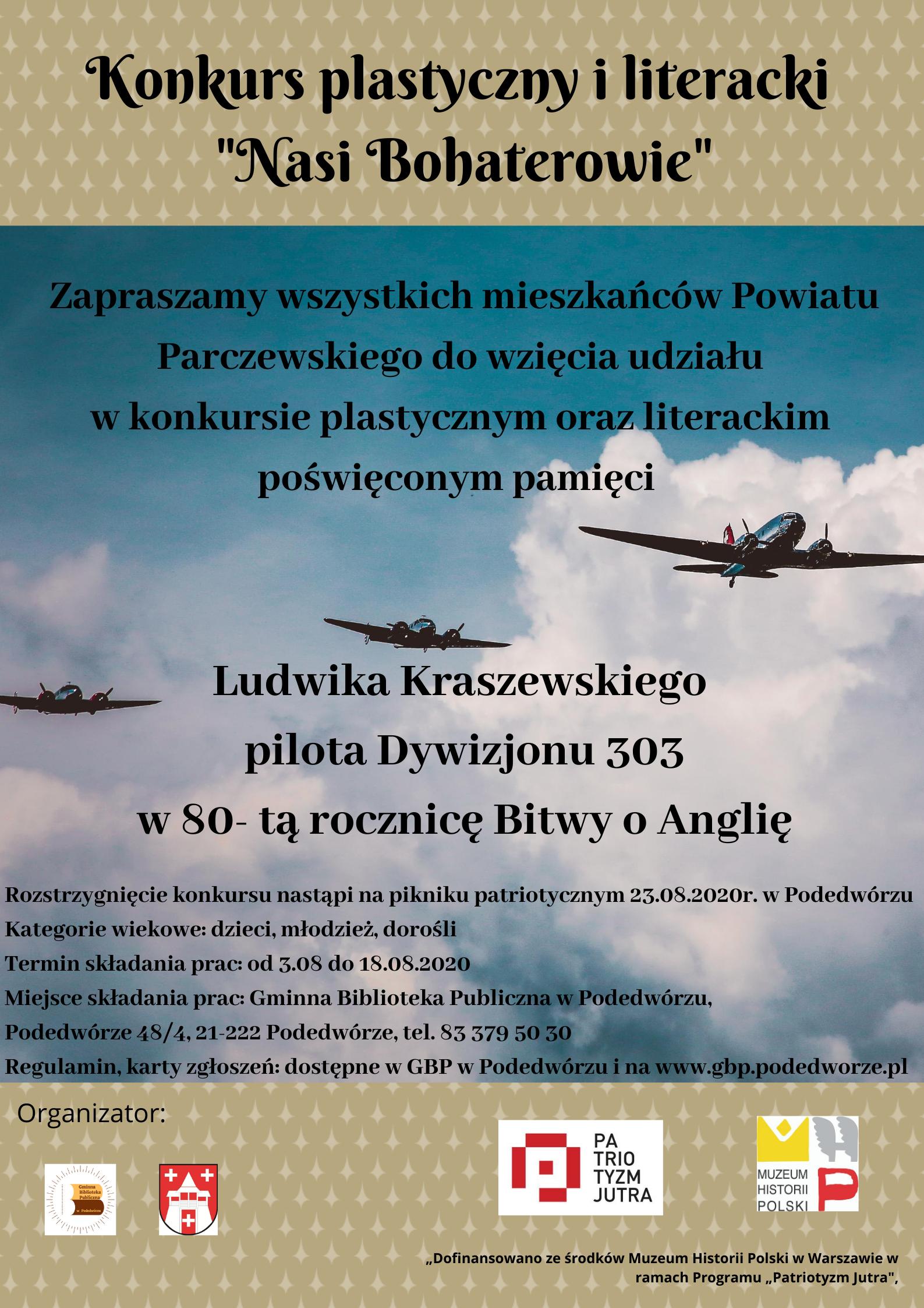 Plakat konkursu literackiego i plastycznego