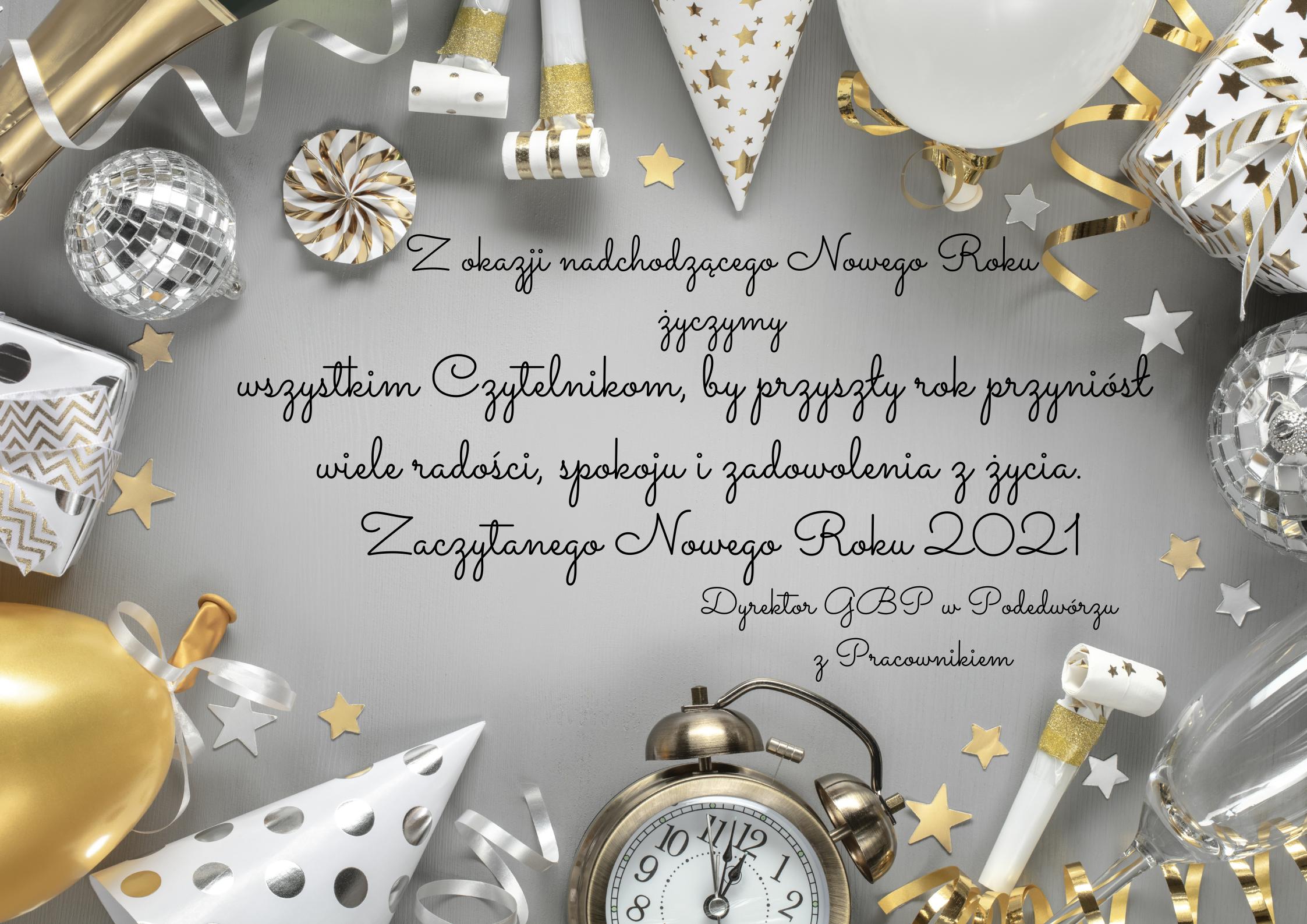 plakat z życzeniami noworocznymi