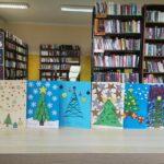Kartki świąteczne zrobione przez uczestników konkursu na świąteczna kartkę