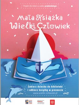 Plakat promujący projekt Mała książka- wielki człowiek