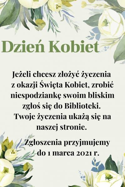 Plakat na dzień kobiet